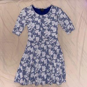 Top shop blue/white floral dress